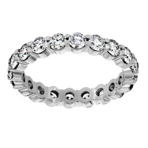 TWO by London Petite Shared Prong Diamond Eternity Wedding Band