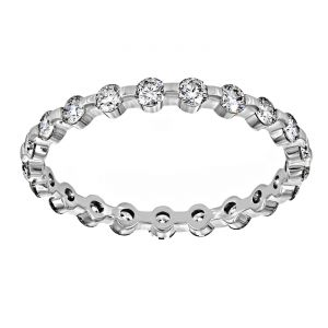 TWO by London Single Prong Eternity Wedding Band