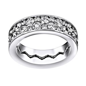 TWO by London Interlocking Cobblestone Diamond Eternity Band