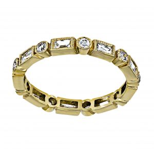 Single Stone Hannah French And Round Cut Diamond Eternity Band