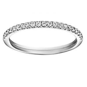 TWO by London Half Pave Diamond Wedding Band