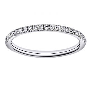 TWO by London Pave Diamond Half Wedding Band
