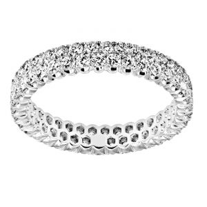 TWO by London Two Row Prong Set Round Diamond Eternity
