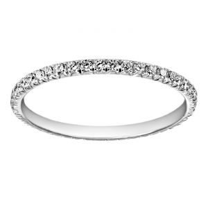 TWO by London Round Pave Diamond Eternity Band