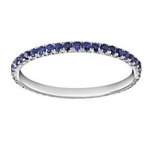 TWO by London Micropave Sapphire Eternity Band