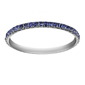 TWO by London Micropave Blue Sapphire Band