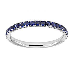 TWO by London Open Edge Blue Sapphire Eternity Band