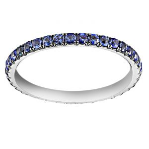 TWO by London Round Micropave Blue Sapphires