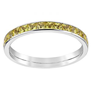 TWO by London Square Yellow Sapphire Eternity Band