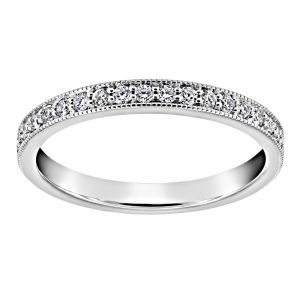 TWO by London Shared Prong Diamond Milgrain Eternity Band