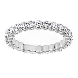 TWO by London Prong Set Round DIamond Eternity Band