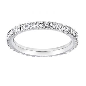 TWO by London Four Prong Princess Cut Diamond Eternity Band