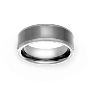 TWO by London 8mm Satin Finish Wedding Band