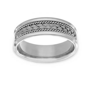 TWO by London Woven Center Wedding Band