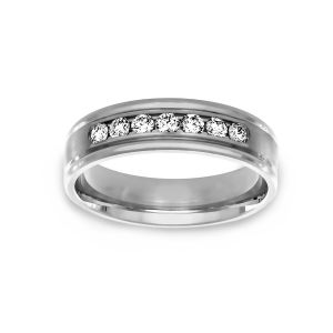 Benchmark Channel Set Diamond Wedding Band