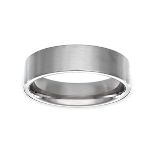 Benchmark Plain Satin Wedding Band