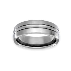 Benchmark 7.5mm Comfort Fit Carved Design Wedding Band