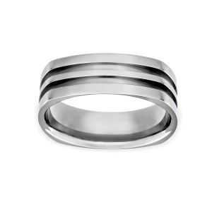 Benchmark 7mm Four Sided Carved Wedding Band