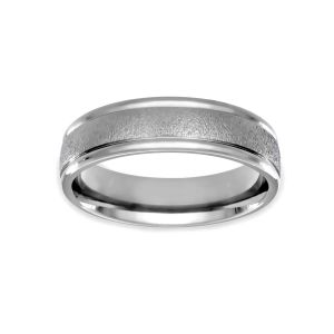 Benchmark 6mm Comfort Fit Textured Satin Wedding Band