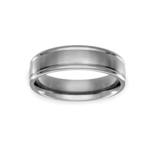 Benchmark 6mm Comfort Fit Satin and Polished Wedding Band