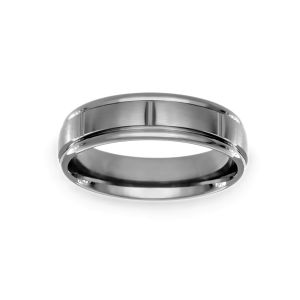 Benchmark Polished Groove Wedding Band
