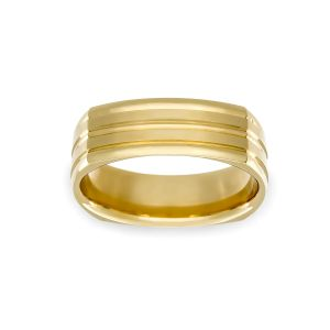 Benchmark 7mm Four Sided Cut Center Wedding Band