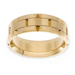 Carlex Comfort Fit Watch Link Wedding Band