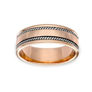 TWO by London 7.1mm Double Rope Wedding Band