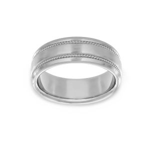 Benchmark Double Rope Wedding Band