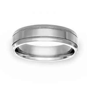 TWO by London Polished Milgrain Band