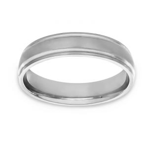 TWO by London Satin Finish Comfort Fit Wedding Band