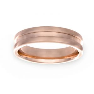 TWO by London 5.5mm Polished Center Wedding Band