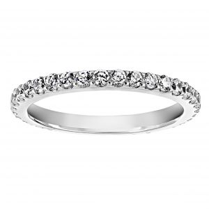 TWO by London Classic Shared Prong Eternity Band