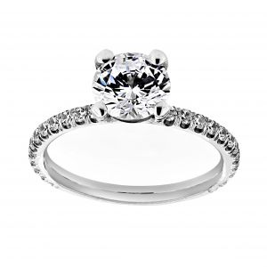 TWO by London Pave Solitaire Setting